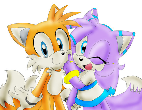 tails couples kertas dinding entitled Tails The fox and Daniela
