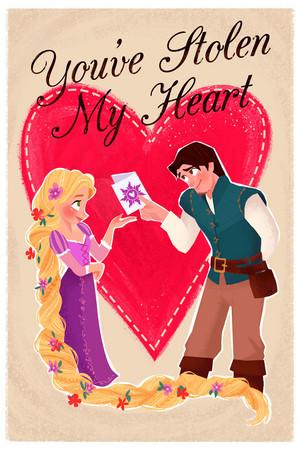 魔发奇缘 Valentine's 日 Card