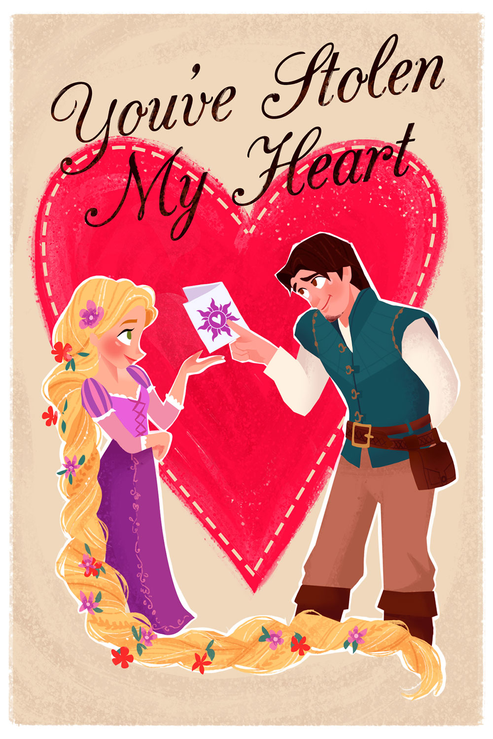 Tangled Valentine's Day Card