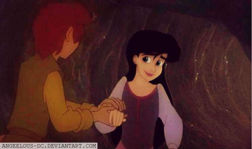 Disney crossover karatasi la kupamba ukuta called Taran/Melody