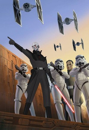 The Inquisitor and Stormtroopers