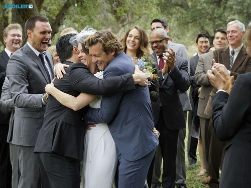 The Mentalist wallpaper with a business suit entitled The Mentalist - Episode 7.13 - White Orchids (Series Finale) - First Look Wedding Photos