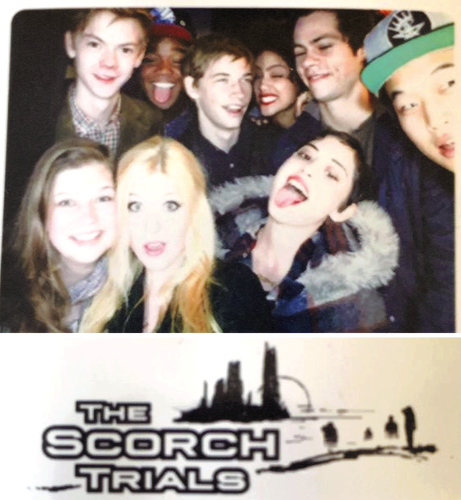 The Maze Runner 바탕화면 with a portrait called The Scorch Trials Cast