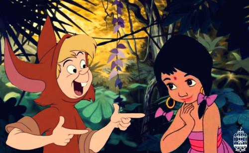Disney crossover karatasi la kupamba ukuta containing anime entitled The Silliest Thing
