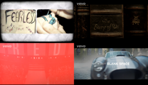 제목 Screens Appearing On Taylor 빠른, 스위프트 음악 비디오