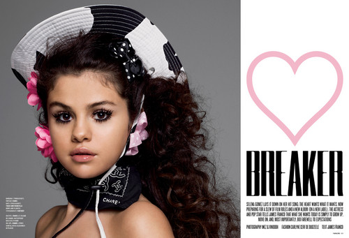 Selena Gomez wallpaper possibly containing a portrait called V Magazine