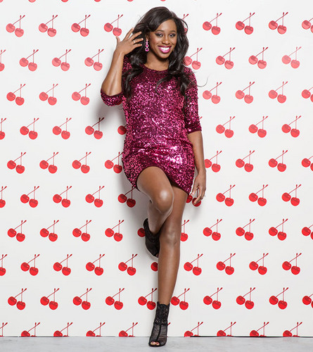 Diva WWE kertas dinding possibly with a playsuit, tights, and a chemise called Valentine's hari Divas 2015 - Naomi