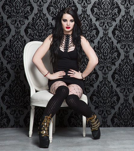 WWE Divas wallpaper probably with a hip boot, a well dressed person, and tights titled Valentine's Day Divas 2015 - Paige