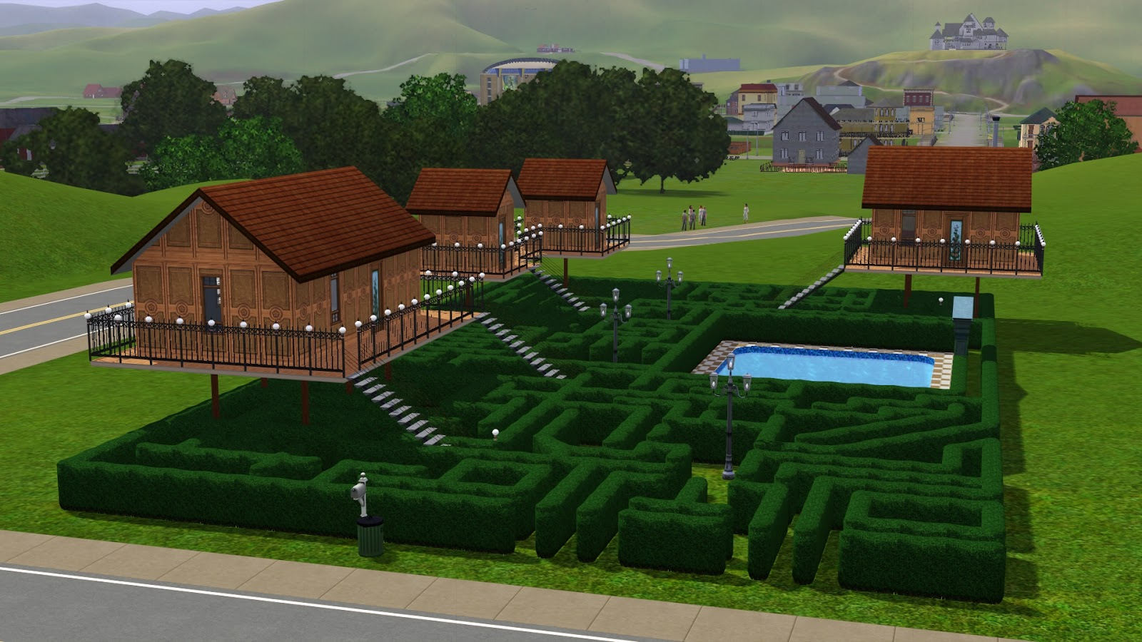 Awesome sims 3 houses the image kid has it for Awesome sims