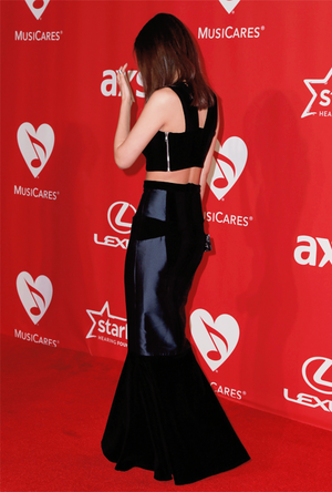 Victoria Justice attends the 25th anniversary MusiCares 2015 Person Of The año Gala