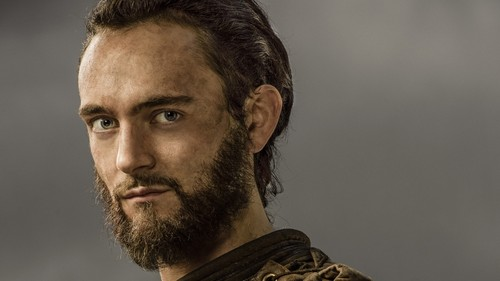 바이킹스 (TV 시리즈) 바탕화면 with a portrait titled Vikings Athelstan Season 3 Official Picture