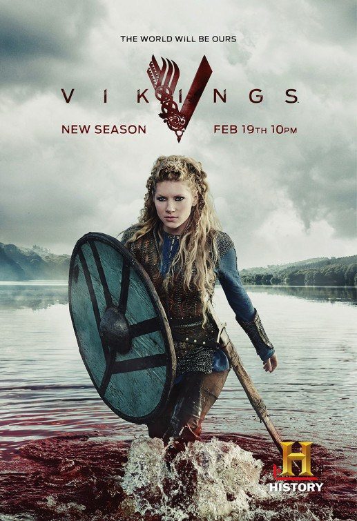 Vikings Season 3 Lagertha Promotional Poster