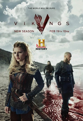 Vikings (TV Series) karatasi la kupamba ukuta possibly containing a sign titled Vikings Season 3 Promotional Poster