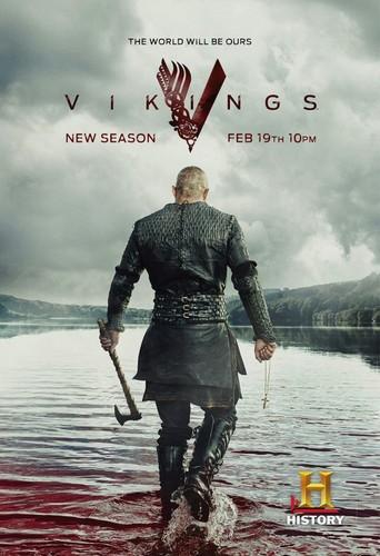 ভাইকিং (টিভি সিরিজ) দেওয়ালপত্র entitled Vikings Season 3 Ragnar Lothbrok Promotional Poster