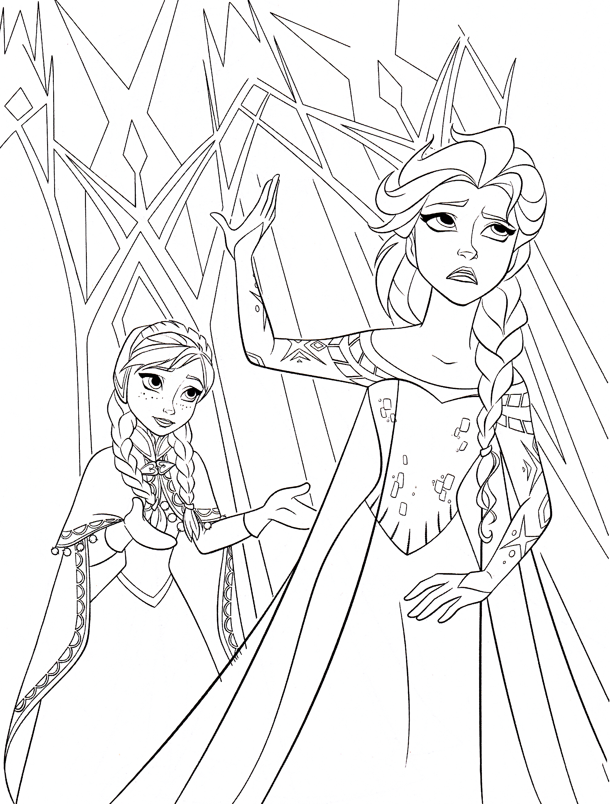 Princess coloring pages elsa