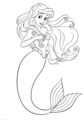 Walt ডিজনি Coloring Pages - Princess Ariel