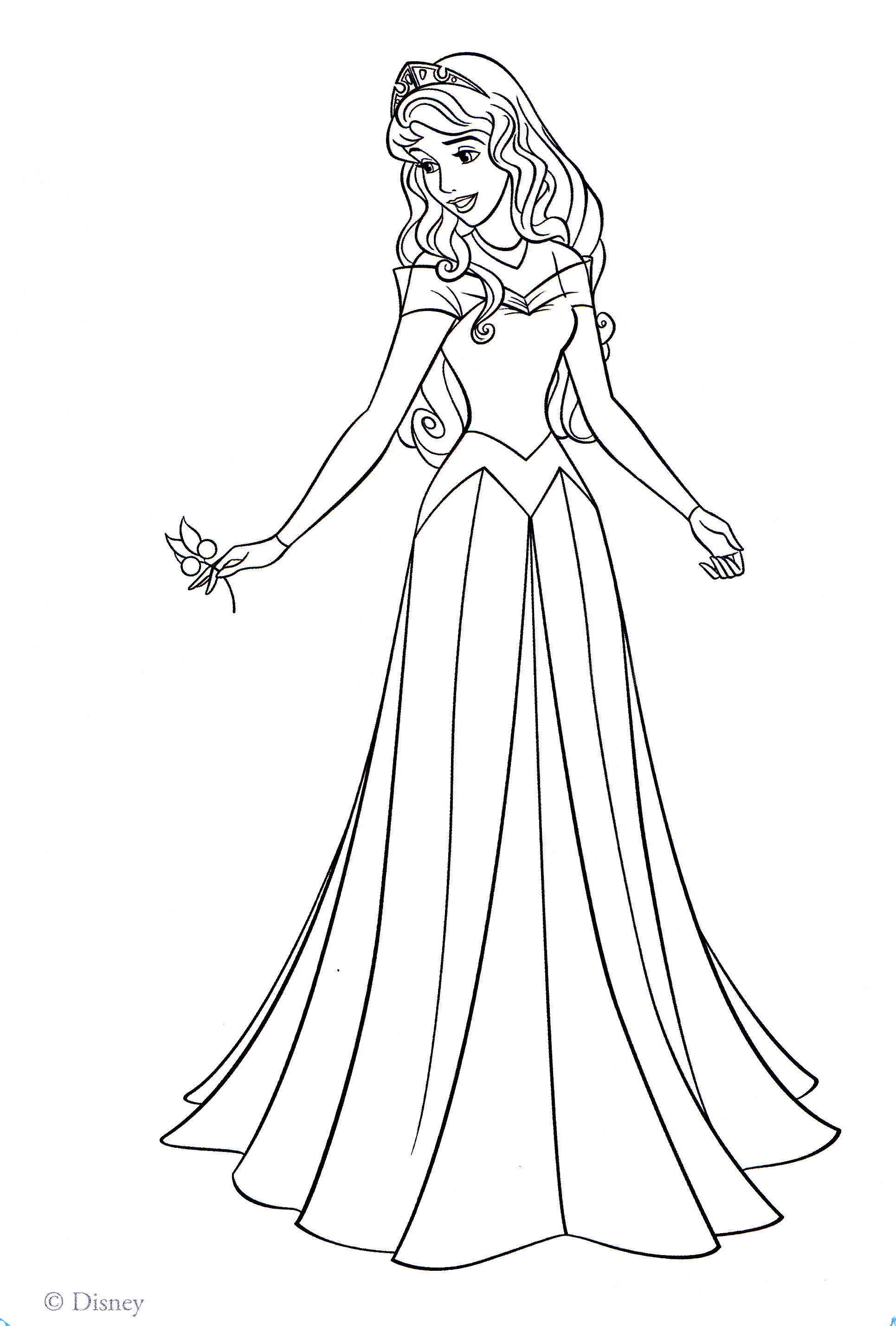 disney aurora coloring pages - photo#32