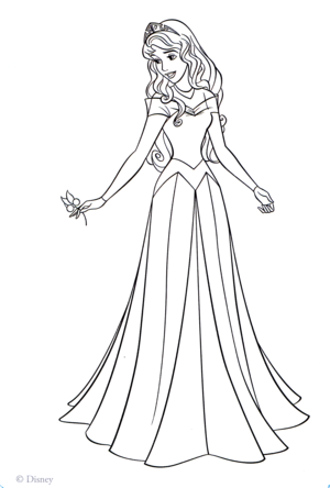 Walt 迪士尼 Coloring Pages - Princess Aurora