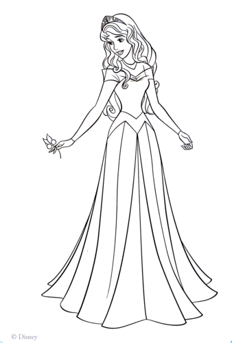 Walt Disney Characters wallpaper titled Walt Disney Coloring Pages - Princess Aurora