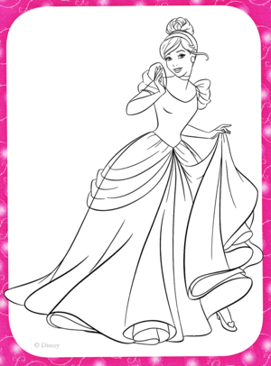 Walt Дисней Coloring Pages - Princess Золушка