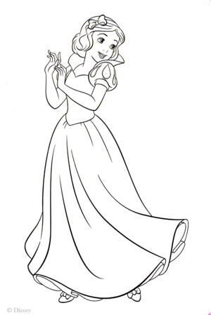 Walt 迪士尼 Coloring Pages - Princess Snow White