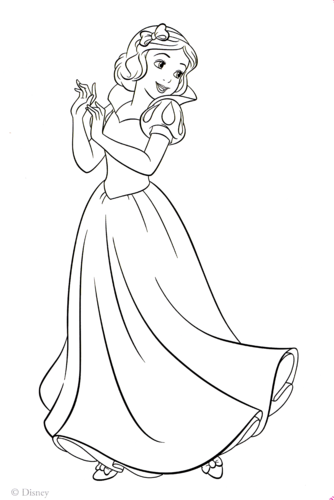 personnages de Walt Disney fond d'écran titled Walt Disney Coloring Pages - Princess Snow White