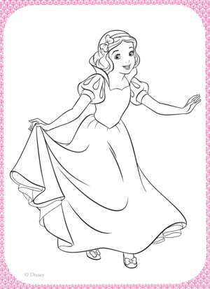 Walt डिज़्नी Coloring Pages - Princess Snow White