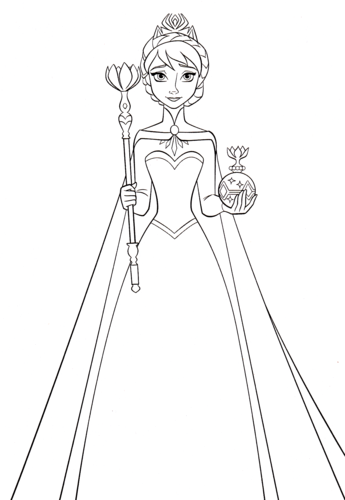Amazing Walt Disney Characters Wallpaper Titled Walt Disney Coloring Pages   Queen  Elsa