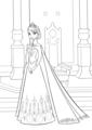 Walt Disney Coloring Pages - Queen Elsa