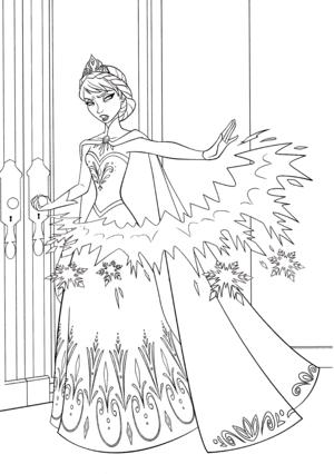 Walt Дисней Coloring Pages - Queen Elsa