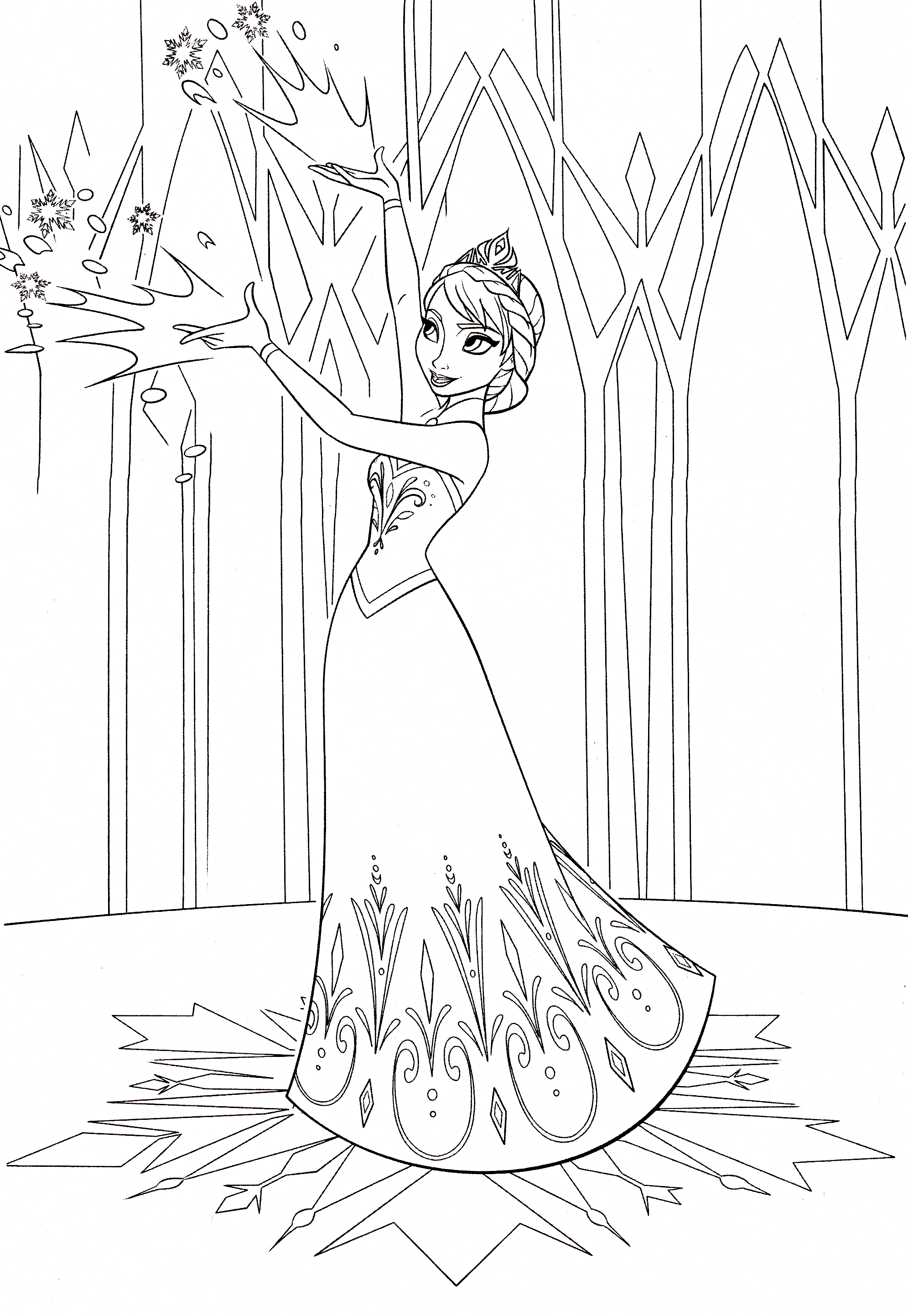 Walt Disney Coloring Pages - Queen Elsa - Walt Disney ...