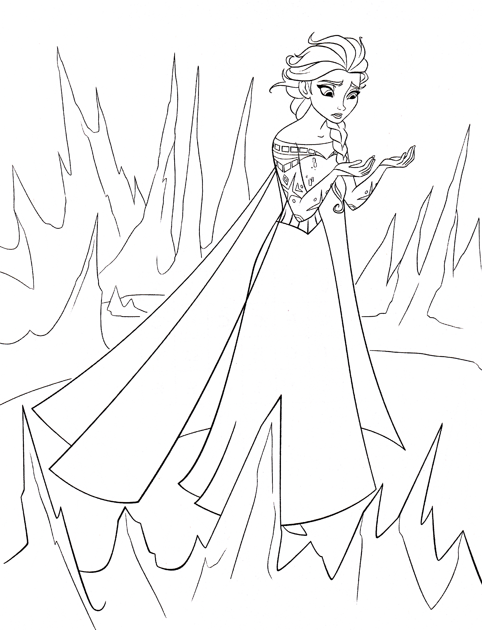 Coloring Pages Queen Elsa : Walt disney coloring pages queen elsa