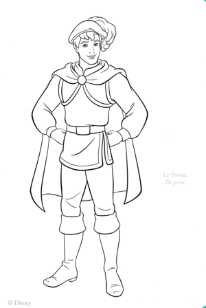 Walt 迪士尼 Coloring Pages - The Prince