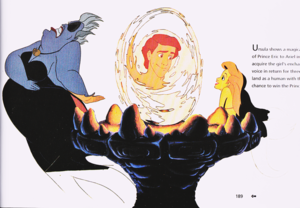 Walt disney Production Cels - Ursula, Prince Eric & Princess Ariel