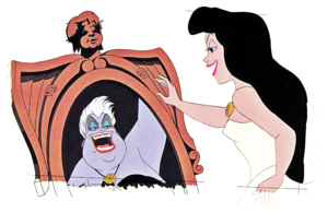 Walt 迪士尼 Production Cels - Ursula & Vanessa