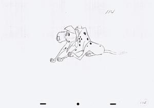 Walt ডিজনি Sketches - Pongo