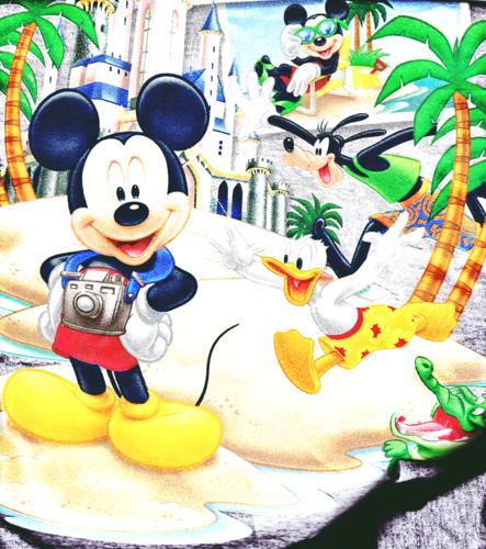 Walt Disney Figuren Hintergrund Titled T Shirts