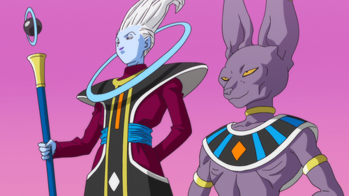 dragon ball z wallpaper possibly containing anime called Whis and Beerus