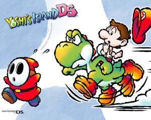 Yoshi's Island DS karatasi la kupamba ukuta