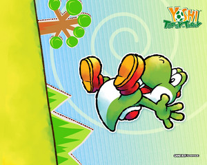 Yoshi's Topsy Turvy Wallpaper