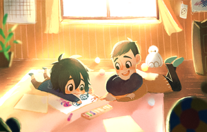 Young Hiro and Tadashi