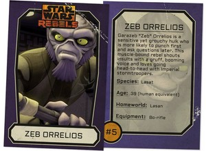 Zeb Orrelios Trading Card