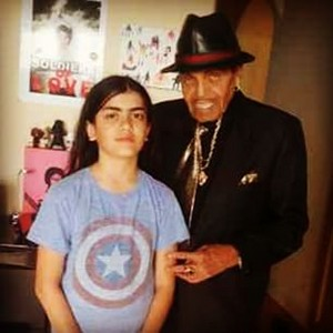 blanket jackson with grandfather joe jackson
