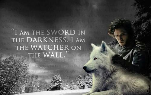 Game of Thrones karatasi la kupamba ukuta titled jon snow quote