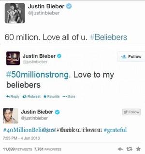 justin bieber 60 million twitter ,2015