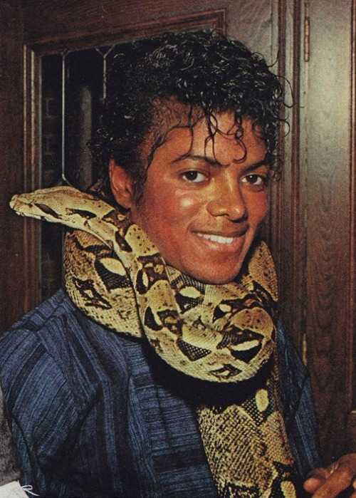 michael jackson snake around his neck