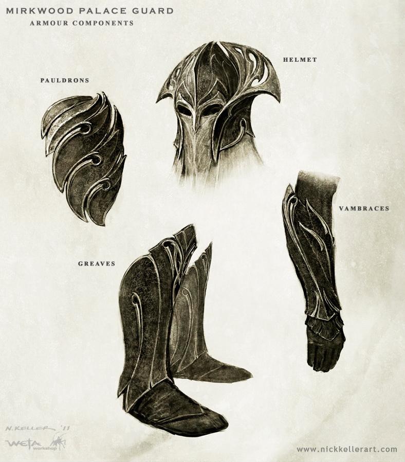 mirkwood warrior concept art