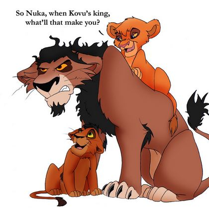 The Lion King 2:Simba's Pride wallpaper containing anime entitled nuka,kovu,vitani