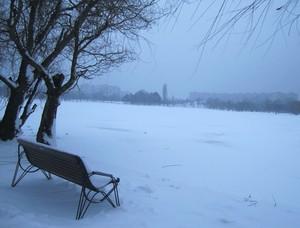 parcul Alexandru Ioan Cuza lacul Titan iarna IOR Bucuresti Bucharest Romania