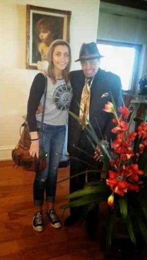 paris jackson with her grandfather joe jackson 2014